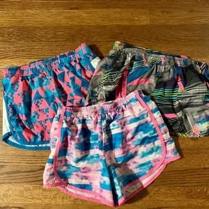 Three Pair of Girls Size 10/12 Athletic Shorts